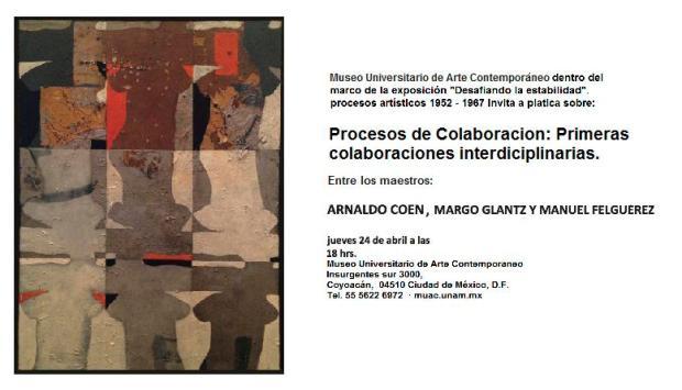 Platica Arnaldo Coen plática, Margo Glantz y Manuel Felguerez