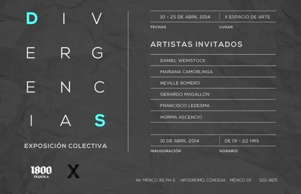 DIVERGENCIAS Exposición Colectiva.