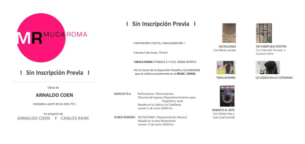 SIN INSCRIPCION PREVIA conjunta de ARNALDO COEN  y CARLOS RANC