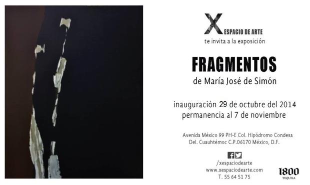 X Espacio de arte - Maria Jose de Simon - Fragmentos 29 Oct.