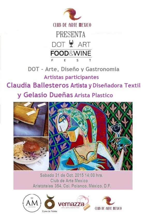 Club de Arte Mexico - Dot Art - Food & Wine