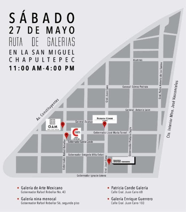 Ruta de las Galerias 2017 Plano San Miguel Chapultepec..jpg